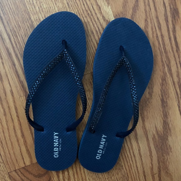 b7ba62779 Old Navy Shoes - Old Navy Sparkly Navy Blue Flip Flops Size 9